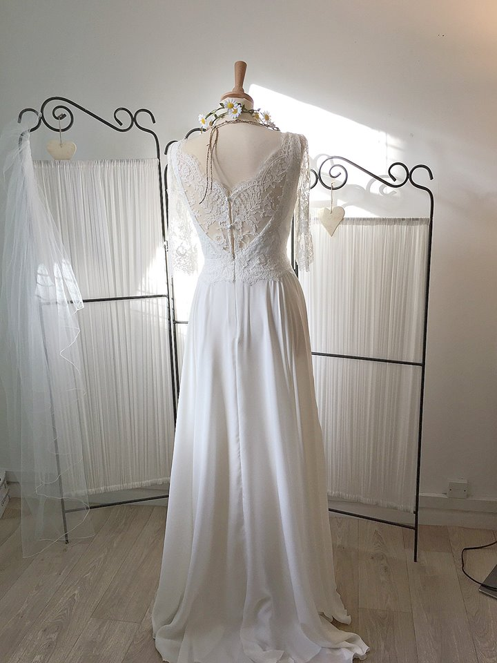 Amelie boho floaty wedding dress