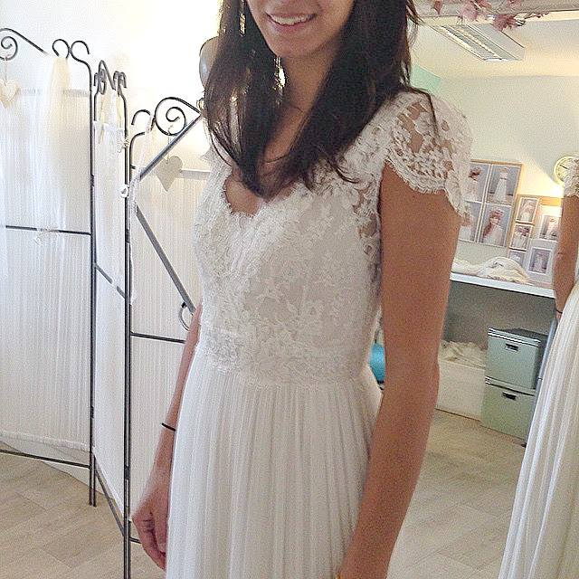 Mercy boho silk wedding dress