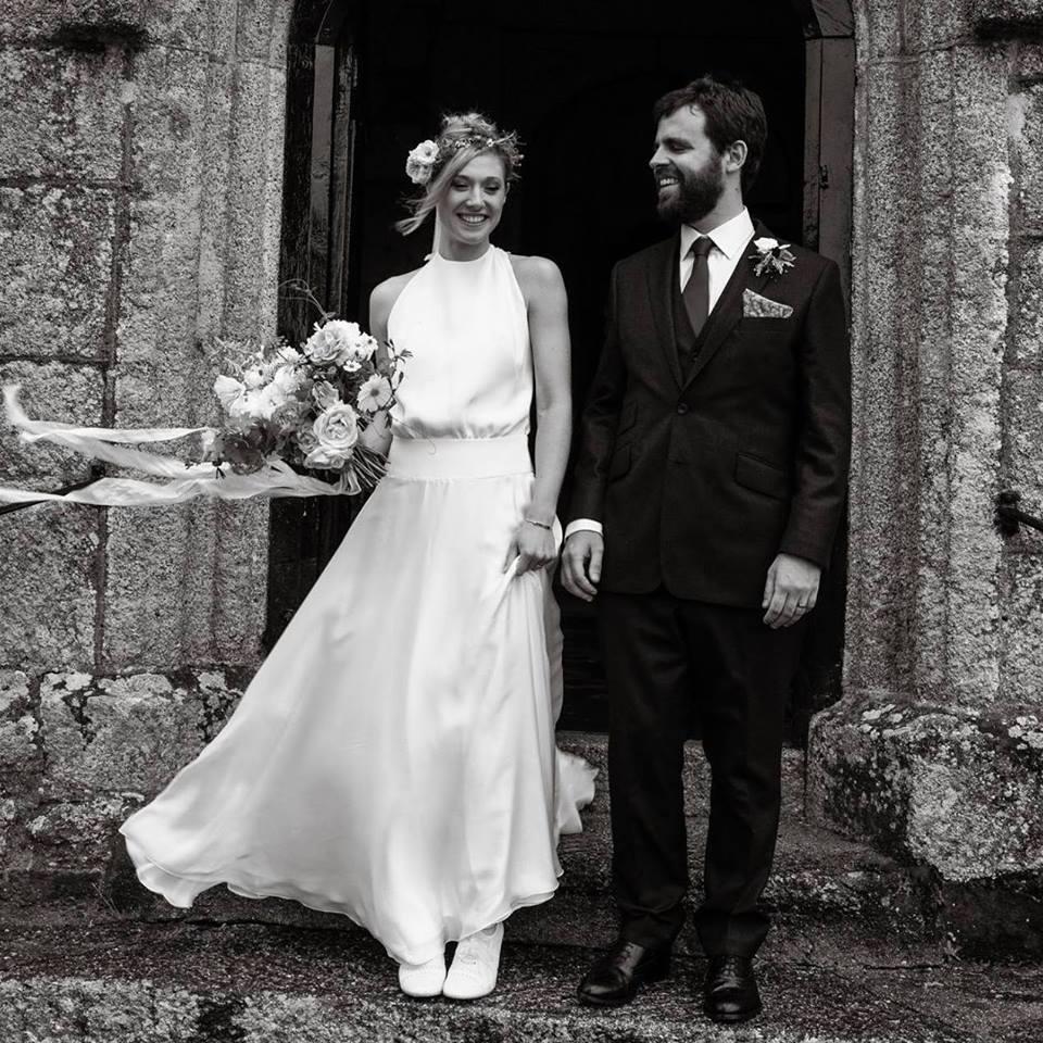 Willow, bohemian backless wedding dress