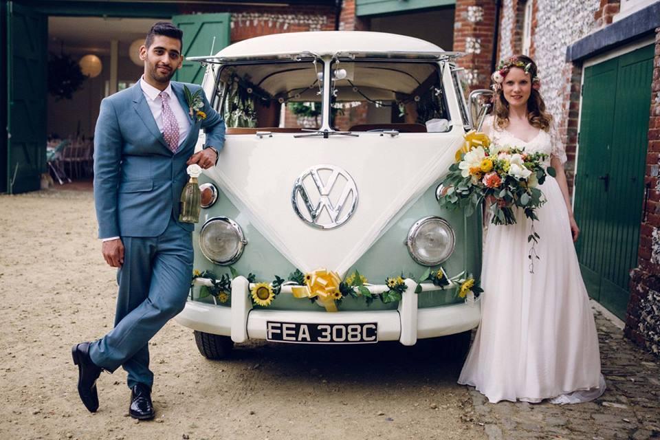 Boho style wedding dress, floaty, vintage and whimsical http://www.lovemydress.net/blog/2015/12/colourful-1970s-boho-wedding-bignor-park.html