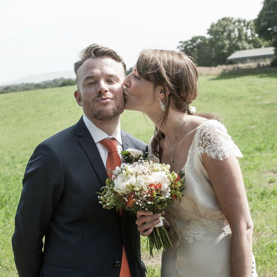 Bias cut thirties style wedding dress