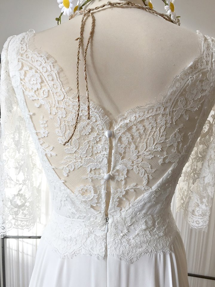 Amelie. French lace boho styling with lace covered back detail.