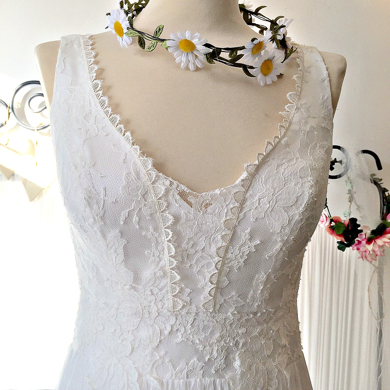 Corrine boho wedding dres