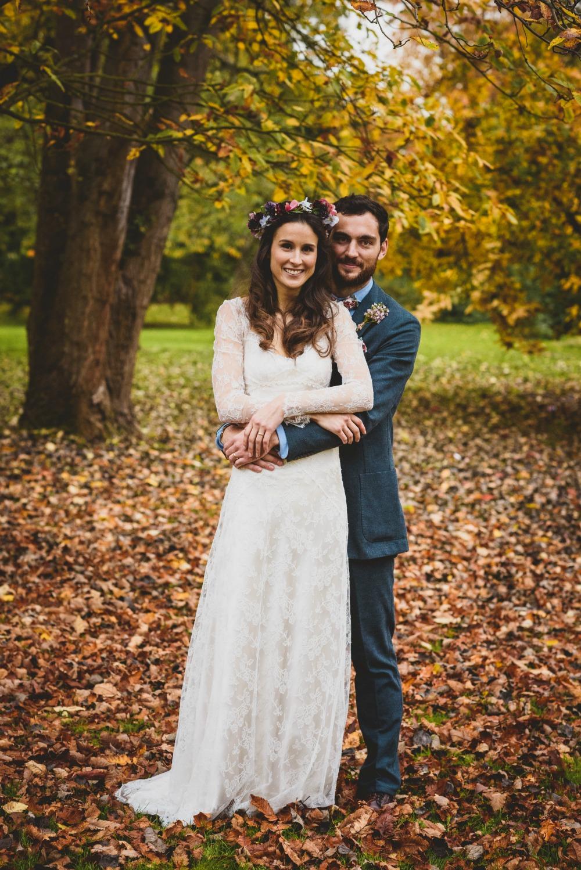 Myrtle lace overlay boho wedding dress