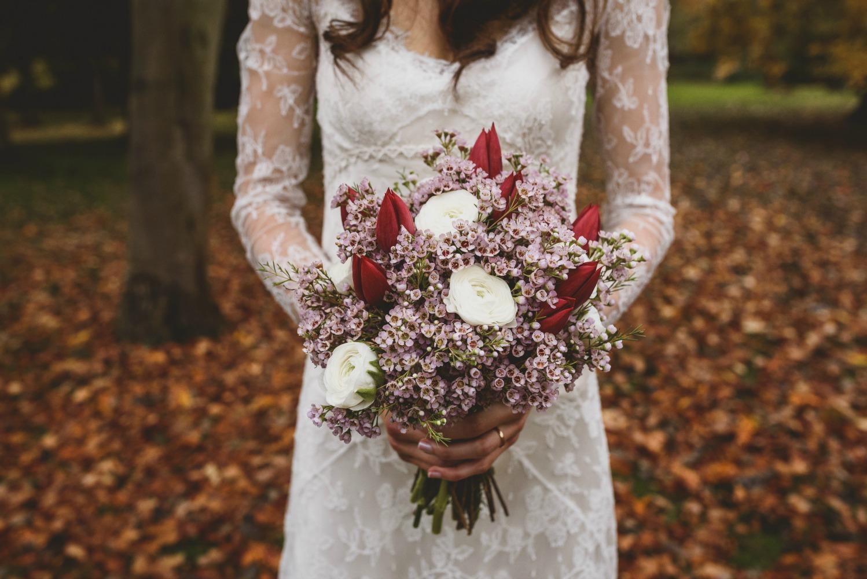 Myrtle long sleeved lace wedding dress